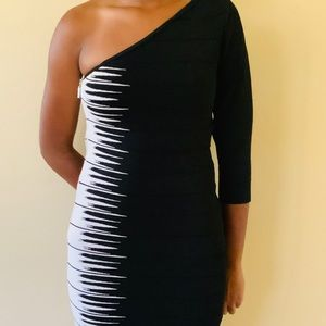 Guess One Shoulder Bodicon Dress